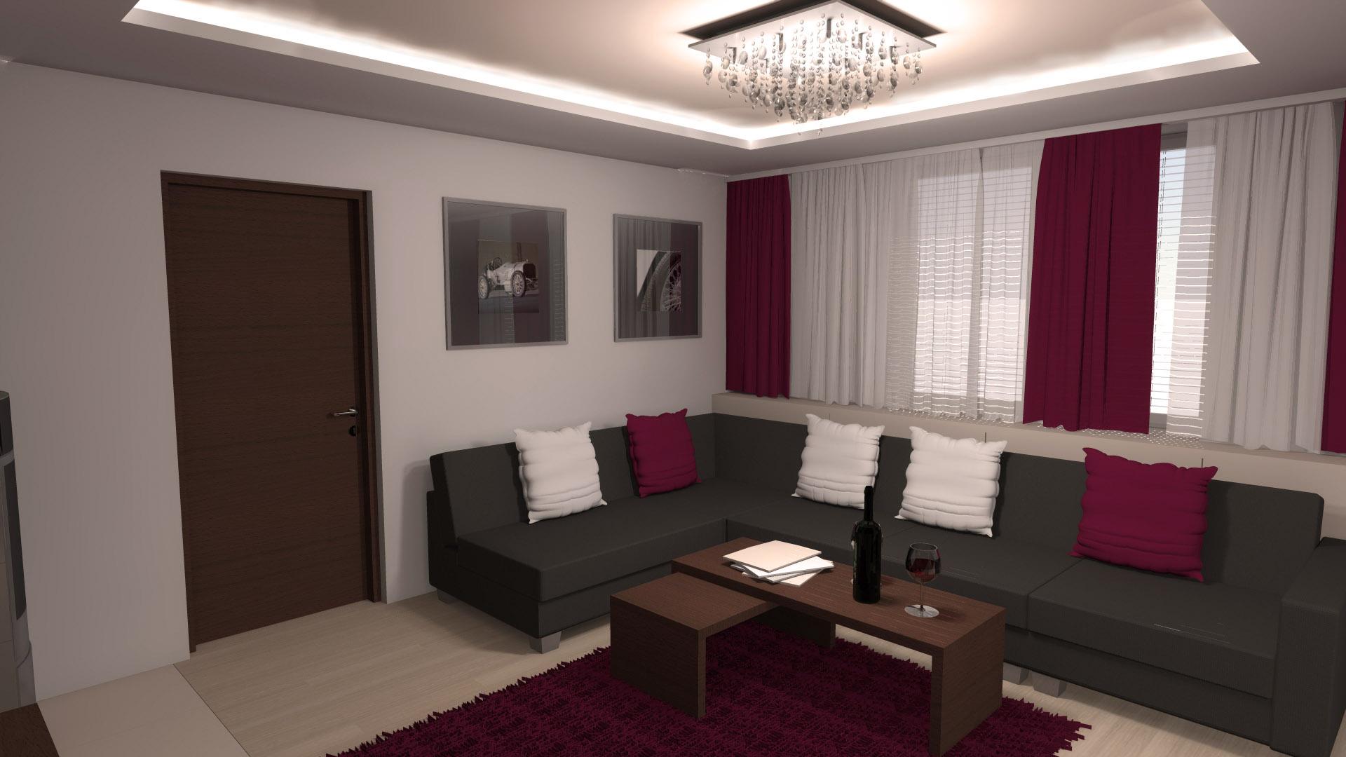 Moderní kuchyň a obývák v rodinném domě