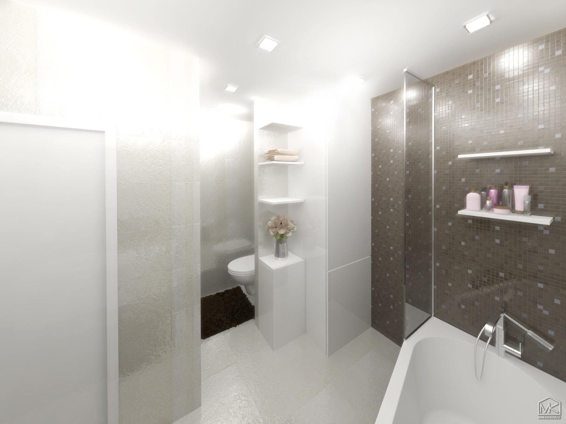 Luxusní designová koupelna a chodba